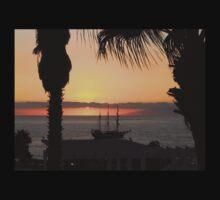 Sunsetting on the Tall Ship Kids Tee