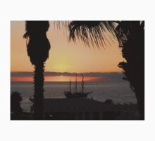 Sunsetting on the Tall Ship Baby Tee