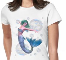 Mermaid in Bubbles Womens Fitted T-Shirt