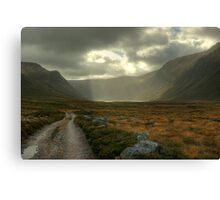 Glen Einich..Light On The Loch Canvas Print