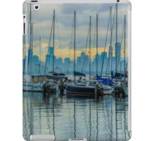 Sail Masts and the Melbourne Skyline - Williamstown, Victoria iPad Case/Skin
