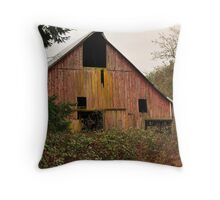 Barn on old dairy farm near Dallas Or. Throw Pillow