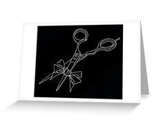 shears black Greeting Card