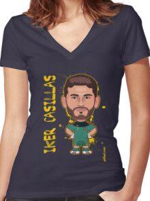 Iker Casillas, Spain Women's Fitted V-Neck T-Shirt