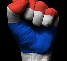 Flag of Thailand on a Raised Clenched Fist  by Jeff Bartels