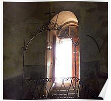 Light Streams in From Open Door Poster