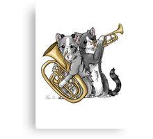 Brass Cats Canvas Print