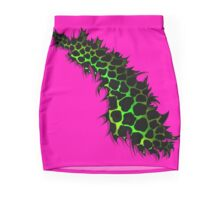 Green and Yellow Leopard Print Ripped Tear Design  Mini Skirt