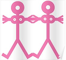 Love Women Pink Icon Poster