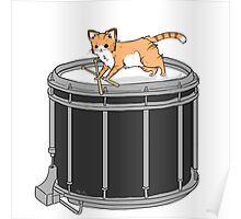Drum cat Poster