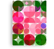 Pink Roses in Anzures 2 Abstract Circles 3 Canvas Print