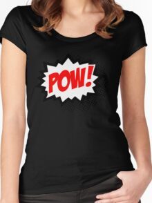 POW! Comic Bubble Women's Fitted Scoop T-Shirt