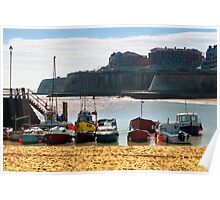Boats at Broadstairs Poster