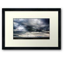 Berwick Upon Tweed Stormy Sky Seascape Framed Print