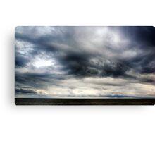 Berwick Upon Tweed Stormy Sky Seascape Canvas Print