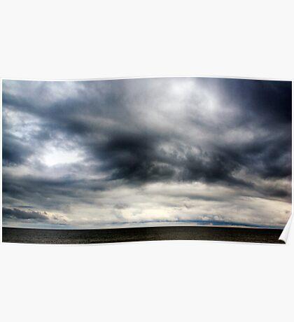 Berwick Upon Tweed Stormy Sky Seascape Poster