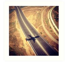 Plane Crossing Art Print