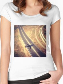 Plane Crossing Women's Fitted Scoop T-Shirt