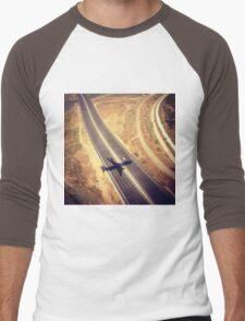 Plane Crossing Men's Baseball ¾ T-Shirt