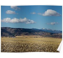 Mountain Valley Farming ~ Idaho, USA Poster