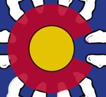 Colorado flag snowflake Sticker