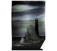Ghostly Nightmare Of Lake Michigan Poster