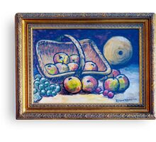 Still life with fruit in basket Canvas Print