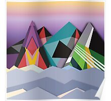 Cosmic Mountains No. 1 Poster