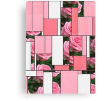 Pink Roses in Anzures 2 Art Rectangles 9 Canvas Print