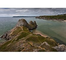 Three Cliffs Bay and the Great Tor Photographic Print