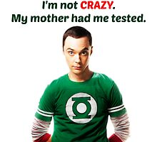 Sheldon Cooper - Not Crazy by ArabellaMarie