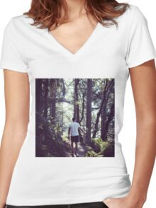 Muir Woods, SF Women's Fitted V-Neck T-Shirt