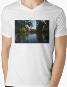 A Glimpse Through the Trees - Bruges, Belgium Mens V-Neck T-Shirt