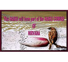 "Visiting the ""HAIKU CORNER OF NIRVANA"" Photographic Print"