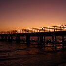 Pier at Sunset by Ms.Serena Boedewig