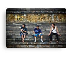 3 Men Are Admiring........Whaaaaaat? Canvas Print