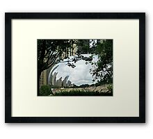 FRAMING THE BEAN Framed Print