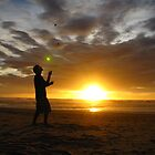 Sunset Juggler by SpiralPrints