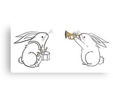 Toot and Diddle Bunnies Metal Print
