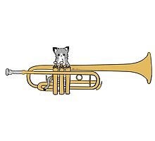 Trumpet Cat by marimbasian