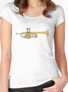 Trumpet Cat Women's Fitted Scoop T-Shirt