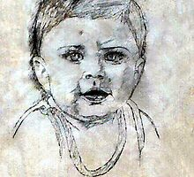 Baby Portrait by Madalena Lobao-Tello
