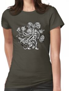 Mayan Jaguar with Lotus Womens Fitted T-Shirt