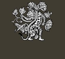 Mayan Jaguar with Lotus Unisex T-Shirt