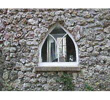 Through a cottage window.... Photographic Print
