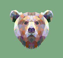 Geometric Bear by KingdomofArt
