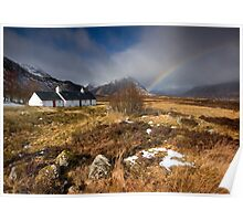 Scotland: Blackrock Rainbow Poster