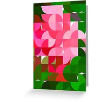 Pink Roses in Anzures 2 Abstract Circles 1 Greeting Card