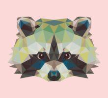 Geometric Raccoon Kids Clothes