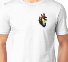 Akoisexual/Akoiromantic Pride Heart (with black detail) Unisex T-Shirt